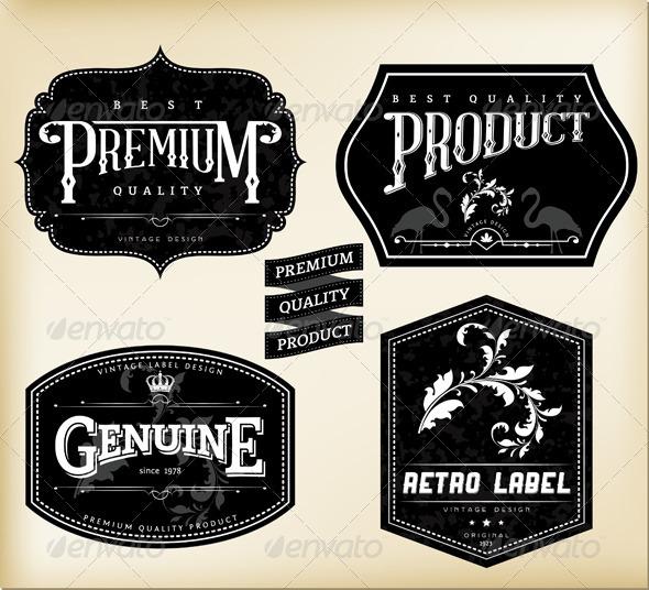 GraphicRiver Retro Labels 4671819