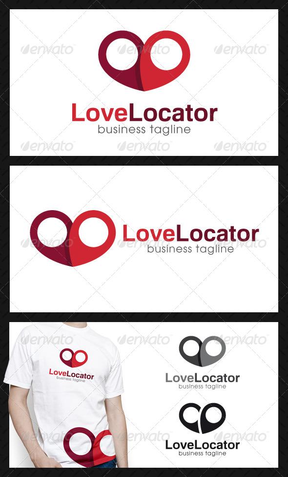 GraphicRiver Love Locator Logo Template 4671975