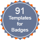 Templates for Badges - GraphicRiver Item for Sale