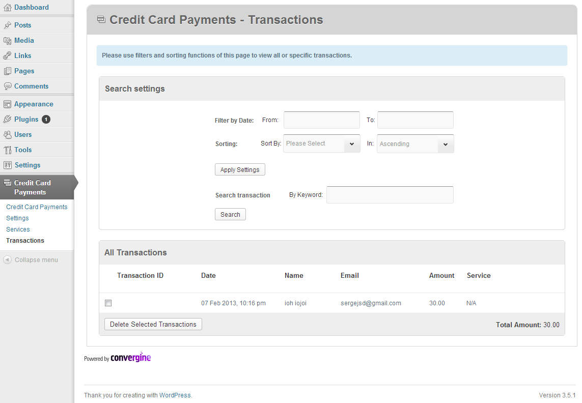 credit card payments wordpress by criticalgears codecanyon credit card payments wordpress item for middot 1 plugin overview png 2 plugin activation screen png