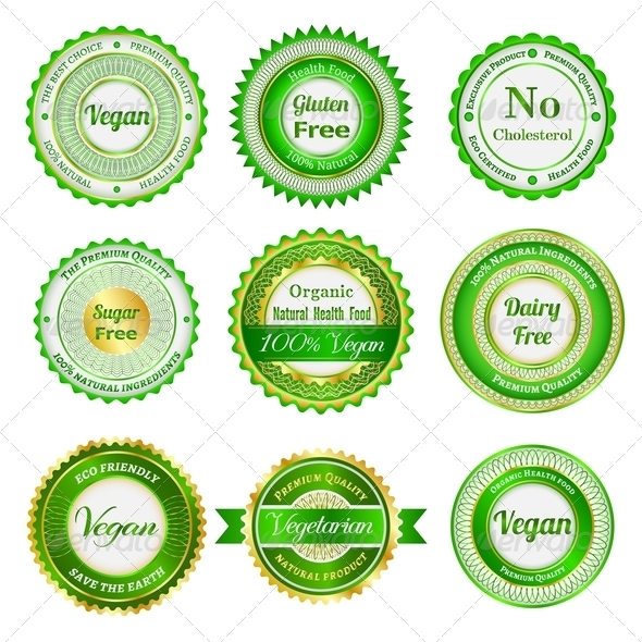 Organic Labels, Badges and Stickers - Retail Commercial / Shopping