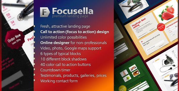 Focusella Premium Landing Page - Landing Pages Marketing