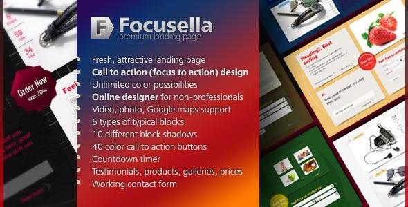 Focusella Premium Landing Page