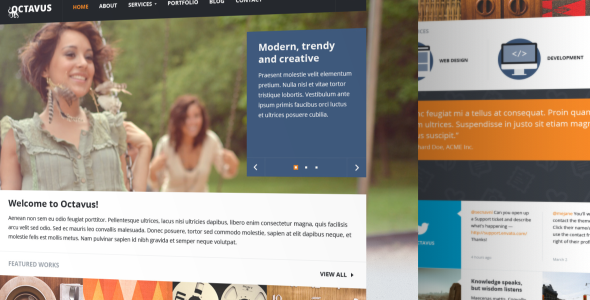 Octavus Responsive Site Template - Portfolio Creative