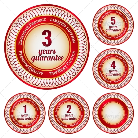 GraphicRiver Labels From 1 To 5 Years Guarantee 4672309