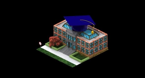High School - 3DOcean Item for Sale