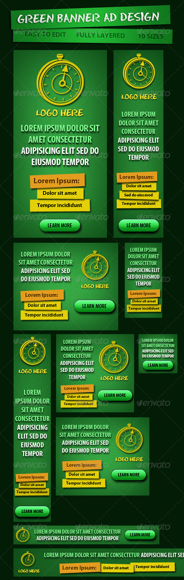 GraphicRiver Green Banner ad for Campaign 4672566
