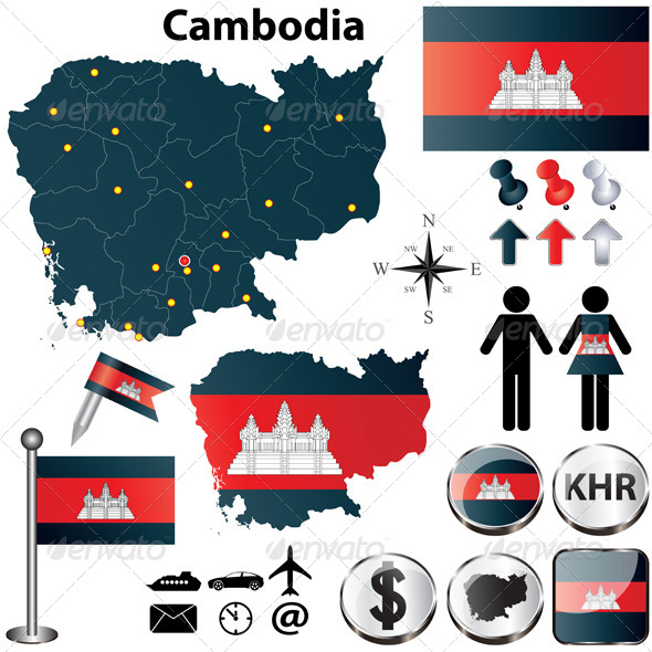GraphicRiver Map of Cambodia 4637241
