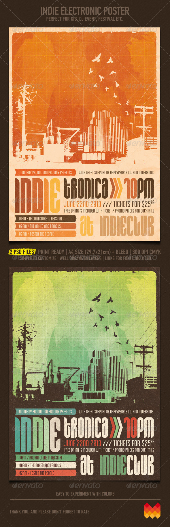 GraphicRiver Indie Electronic Flyer Poster 4672615