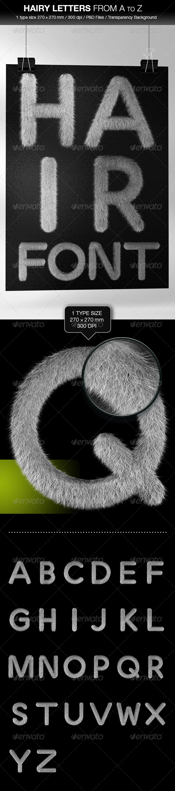 GraphicRiver Hair Letters from A to Z 4672670
