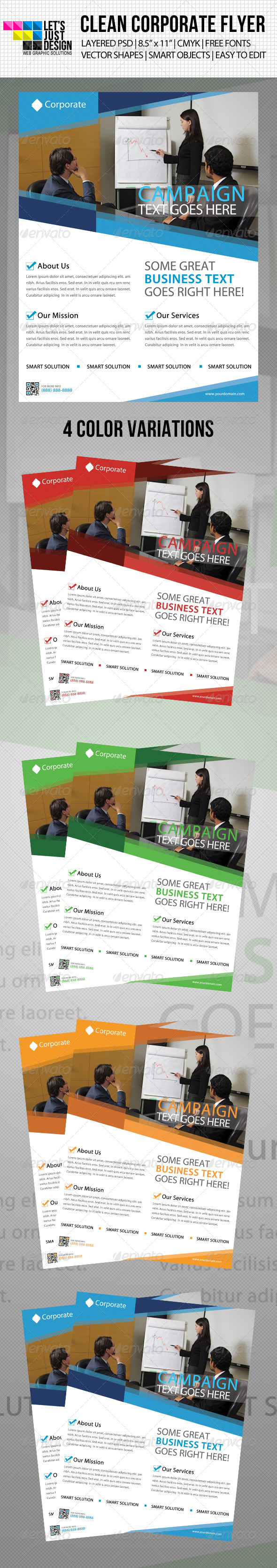 GraphicRiver Clean Corporate Flyer Template 4604275