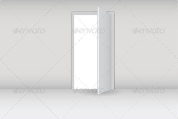 GraphicRiver Open White Door 4672757