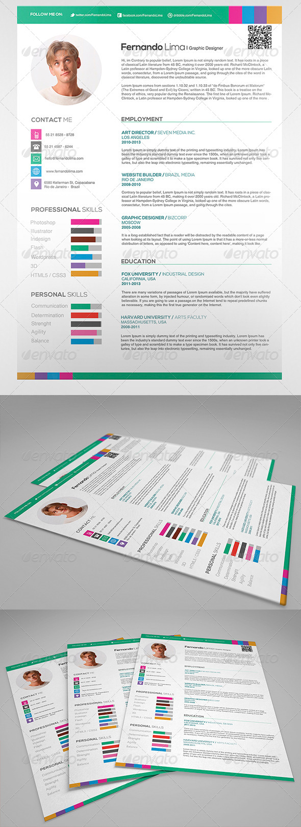GraphicRiver Creative Professional Resume 4672795
