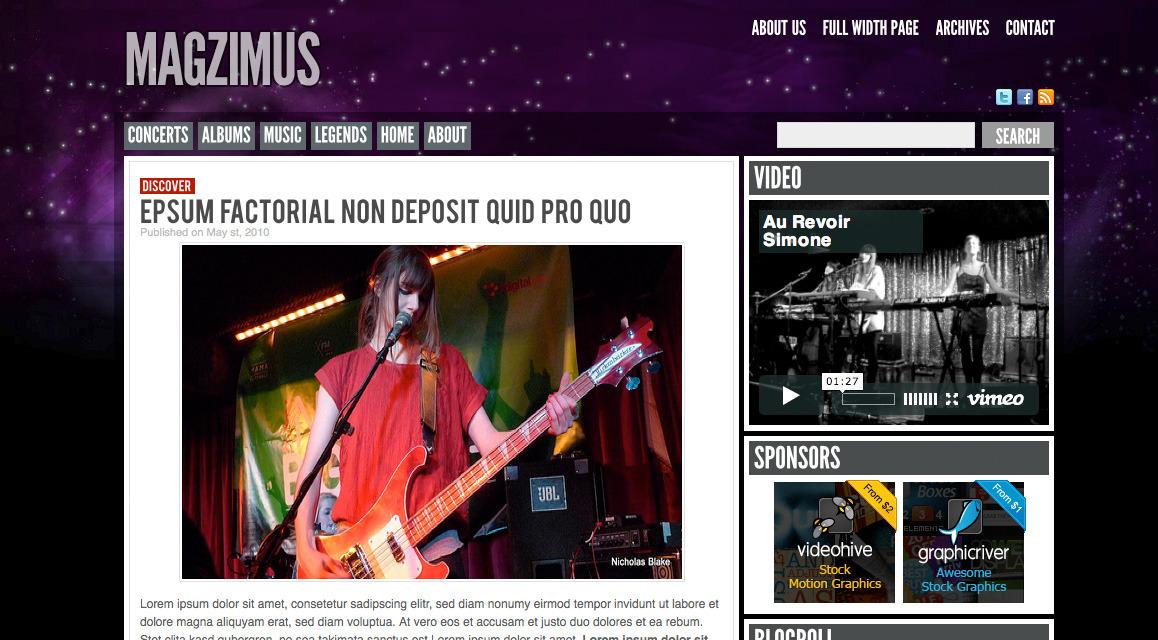 Magzimus   Blog & Magazine theme