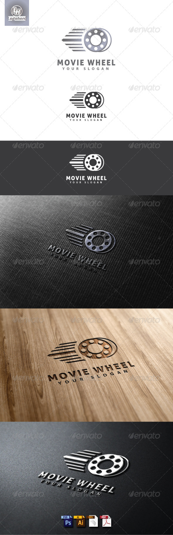Movie Wheel Logo Template