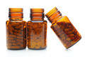 Three Brown Pill Bottles - PhotoDune Item for Sale