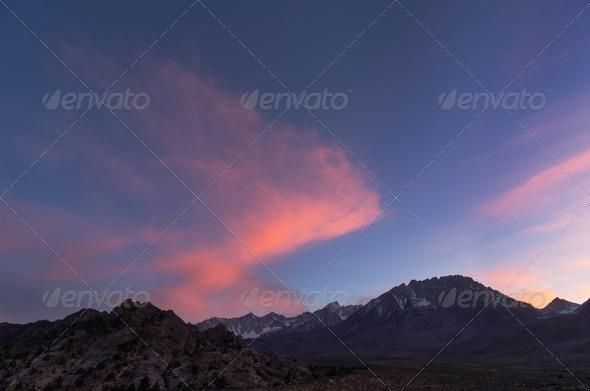 Eastern Sierra Sunset - Stock Photo - Images