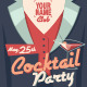 Cocktail Party Flyer - Gentleman Version - GraphicRiver Item for Sale