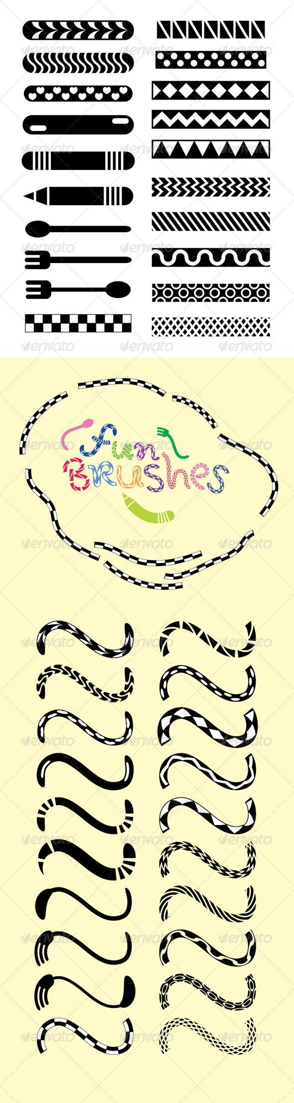 GraphicRiver Fun Brushes for Illustrator 4672843