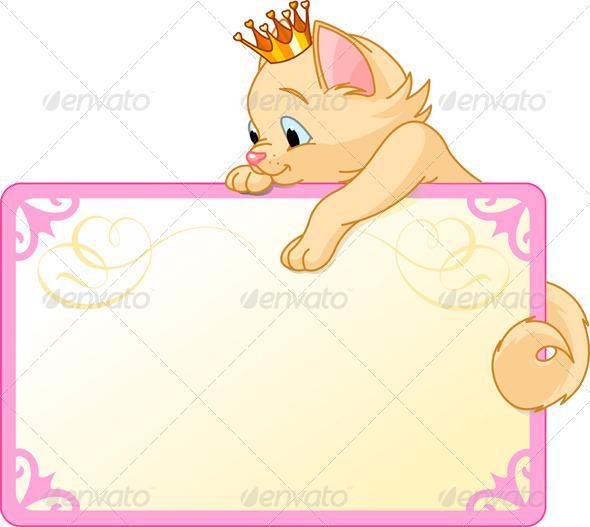GraphicRiver Cat Princess Invite or Placard 4672844
