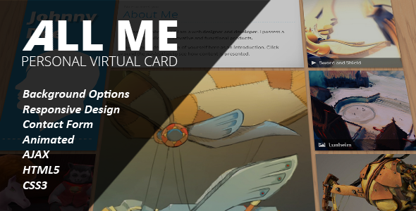 ThemeForest All Me Responsive vCard 4650116