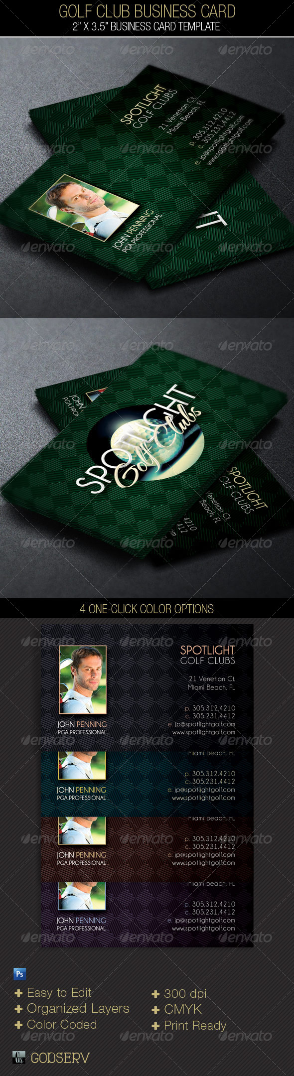 GraphicRiver Golf Club Business Card 4672853