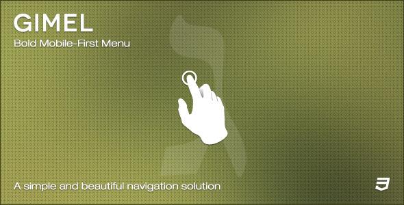 CodeCanyon Gimel Bold Mobile-First Menu 4672857