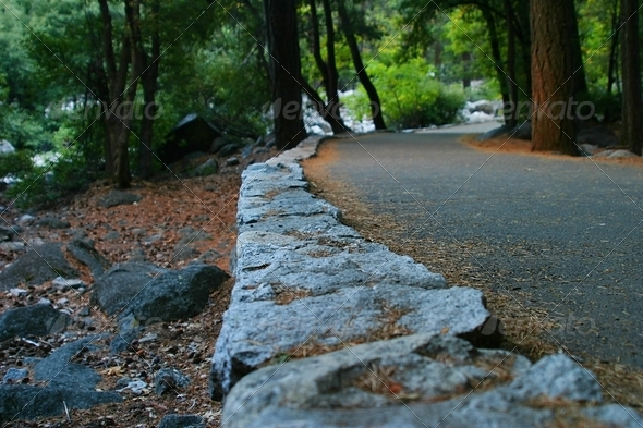 Yosemite Walk Way - Stock Photo - Images