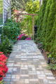 Garden Brick Paver Path with Arbor - PhotoDune Item for Sale
