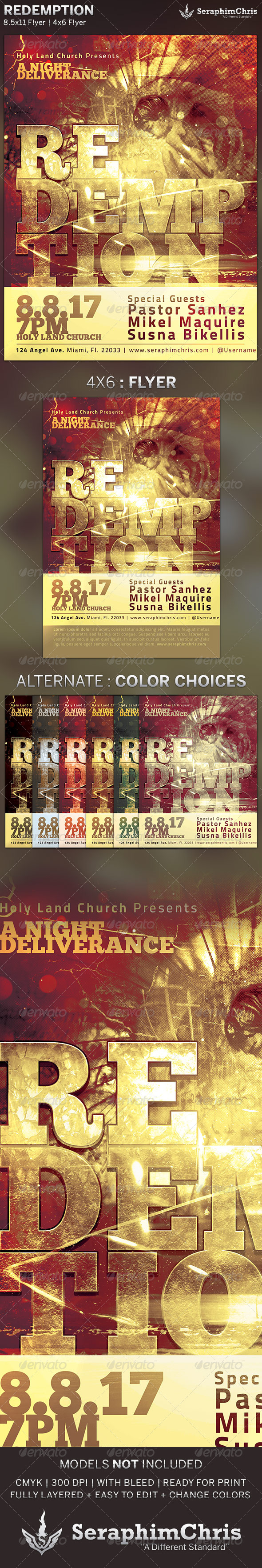 Redemption Church Flyer Template - Church Flyers