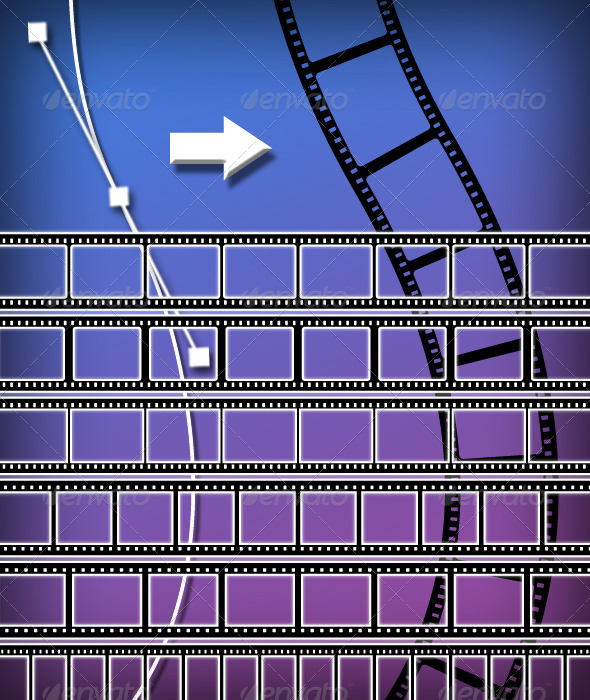 GraphicRiver Film Strip Brush Set 4674517