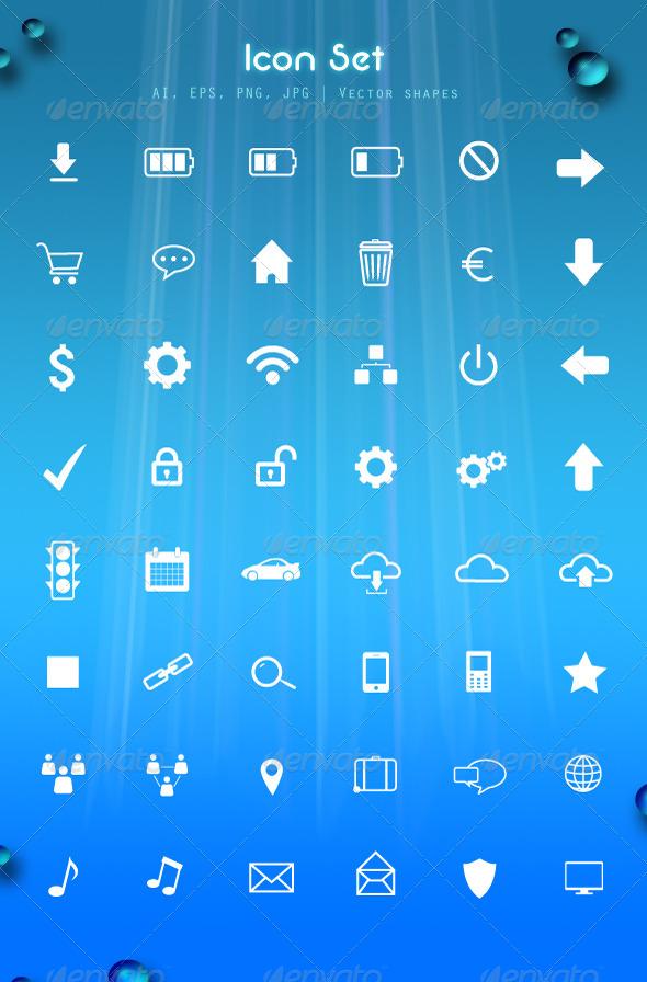 GraphicRiver Icon set 4661910