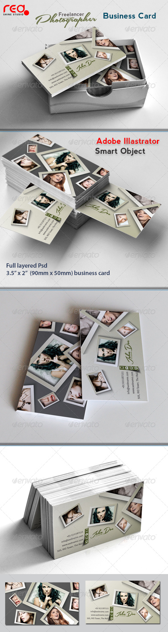 Photographer Business Card Template - Industry Specific Business Cards