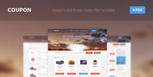 Coupon - Coupons and Promo Codes PSD Template - Retail PSD Templates