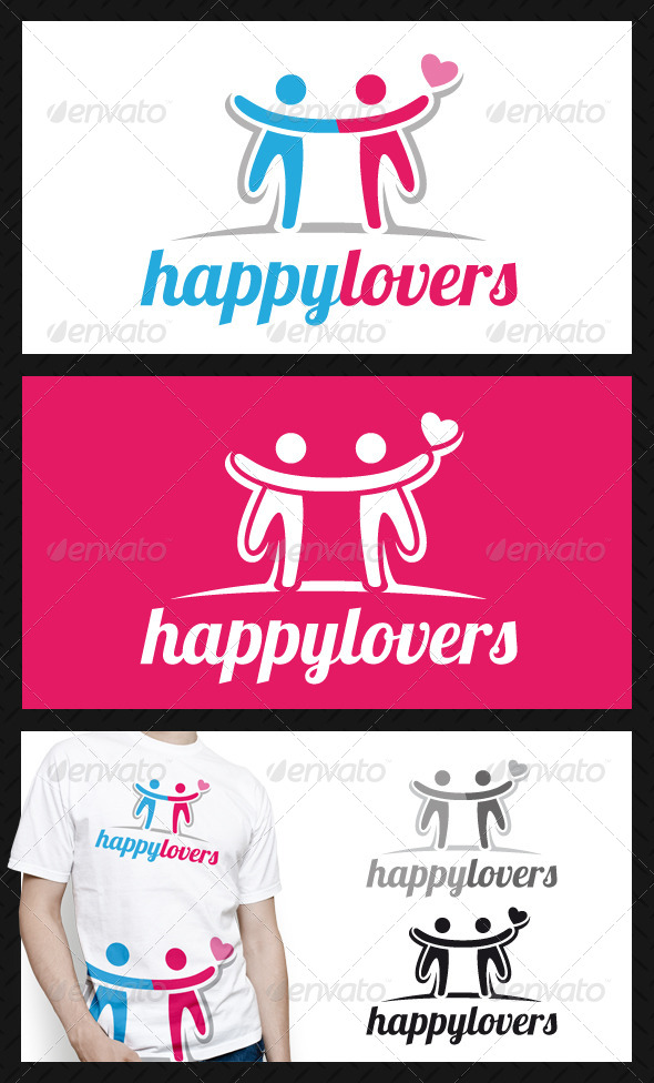 GraphicRiver Happy Lovers Logo Template 4675001