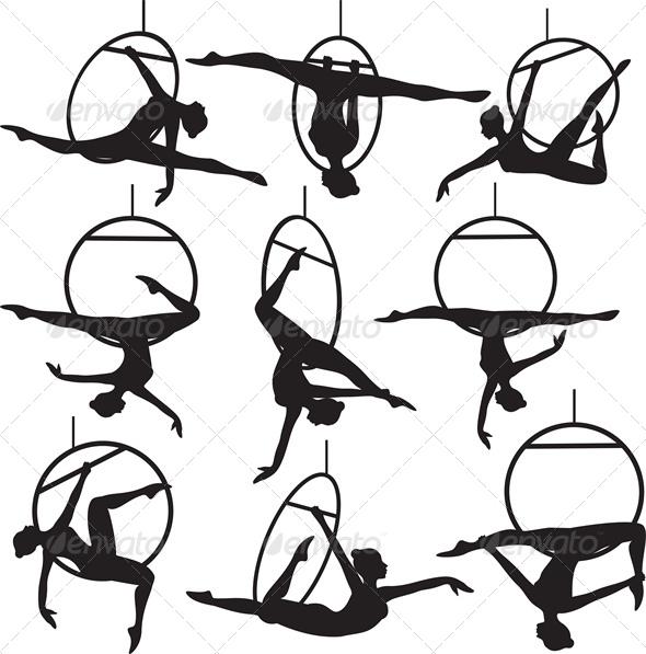 GraphicRiver Aerial Hoop Acrobat 4675960