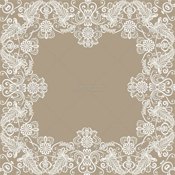 GraphicRiver Card with Lace Border 4676024