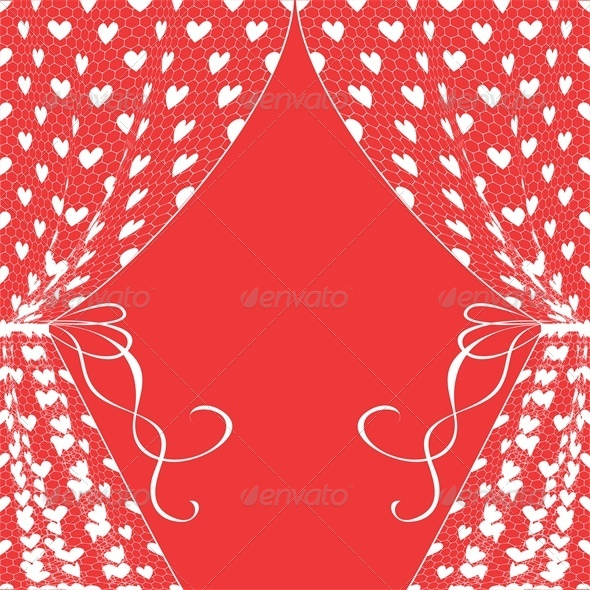 GraphicRiver Curtains with Hearts 4676327