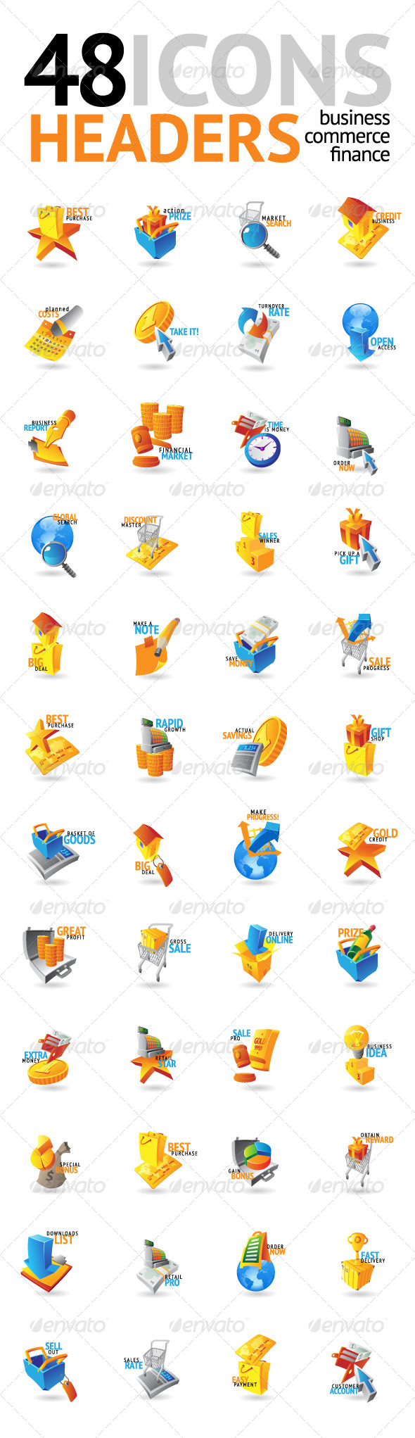 GraphicRiver 48 Illustrations for Business 4676394