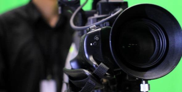 TV Camera Operator on Green Screen by Vintervarg | VideoHive