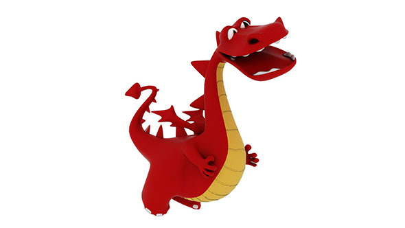 Cartoon Dragon - 3DOcean Item for Sale