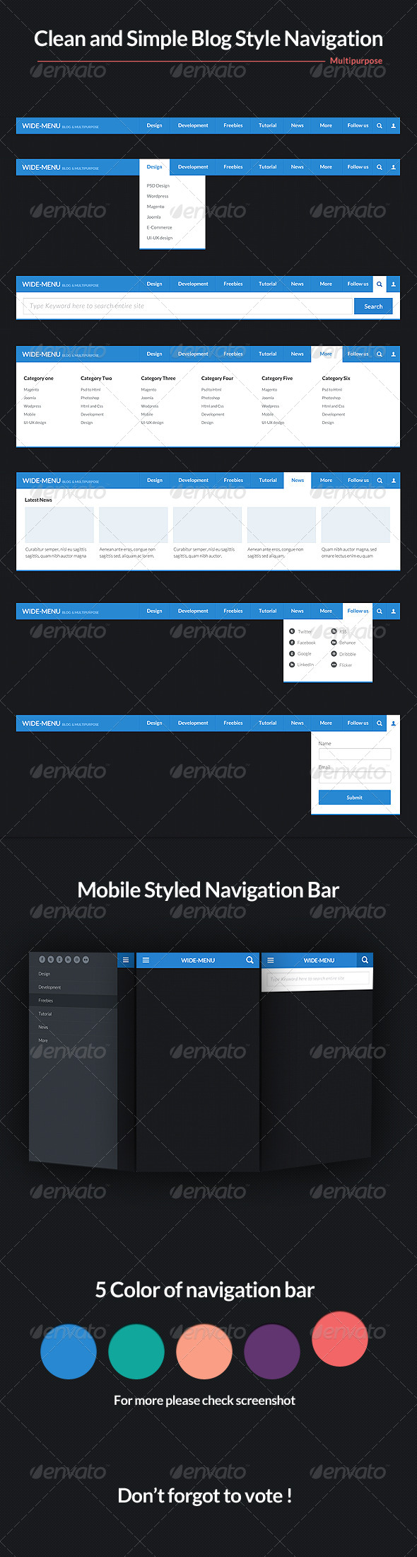 GraphicRiver Wide Blog Style Navigation Bar Psd 4676412