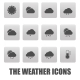 Weather Icons on Gray Squares - GraphicRiver Item for Sale