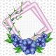 Blue Flowers with Pink Frames - GraphicRiver Item for Sale