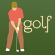 Golf Players, Golf Cart, Golf Clubs - GraphicRiver Item for Sale