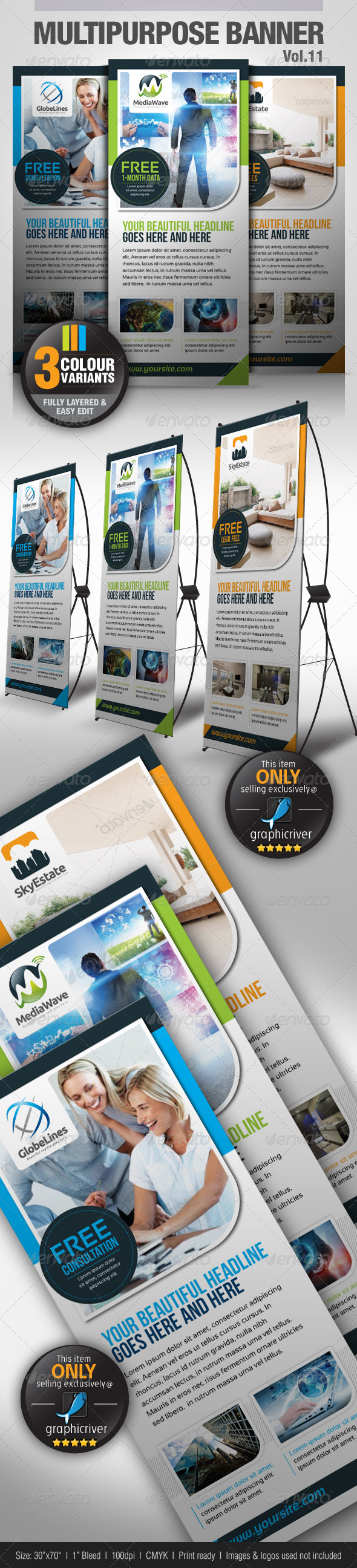 GraphicRiver Multipurpose Banner Vol.11 4604058