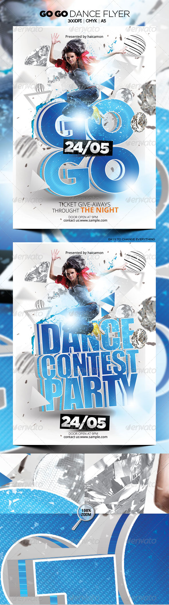 GraphicRiver Go Go Dance Flyer 4679043