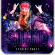 Sound Party Flyer Template - GraphicRiver Item for Sale
