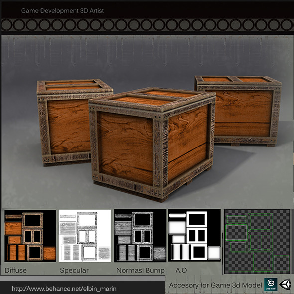 Realistic Box Lowpoly for Games - 3DOcean Item for Sale