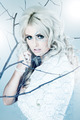 Blonde young woman dressed as winter queen - PhotoDune Item for Sale